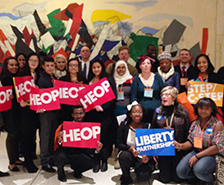 Group of SU students, faculty, and staff gathered for Lobby Day