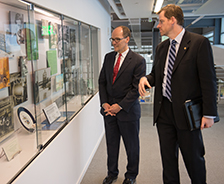 U.S. Secretary of Labor Thomas Perez touring the Syracuse Center of Excellence in Environmental and Energy Systems